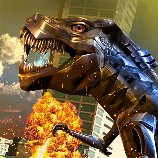 Robot Dinosaur Future Transform City Wars game (apk) free download for Android/PC/Windows