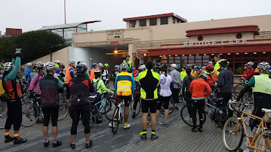 Photo: Rob addressing the troops before the ride