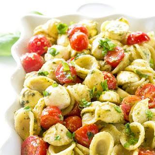 Caprese Pesto Pasta Salad #Recipe