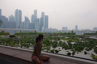 Photo: Couché de soleil sur Singapour