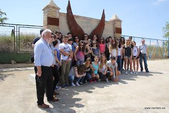 Photo: 30.05.2015.- Visita alumnado Lycée René Cassin de Bayona. Foto grupal en el Memorial Galán´- García.