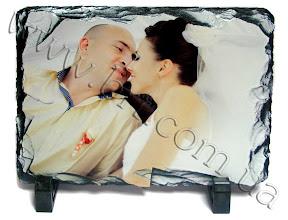 Photo: Подарок на юбилей свадьбы - камень с фотографиями молодоженов