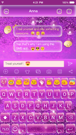 Glitter Pearl Keyboard Theme 1.0.2 screenshot 2086972