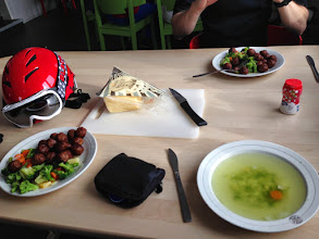 Photo: Eating köttbullar