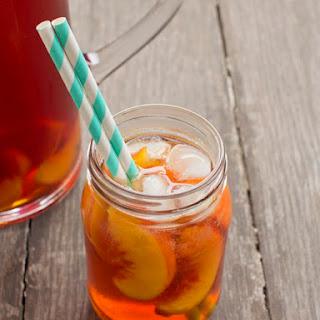 Tipsy Peach Iced Tea.