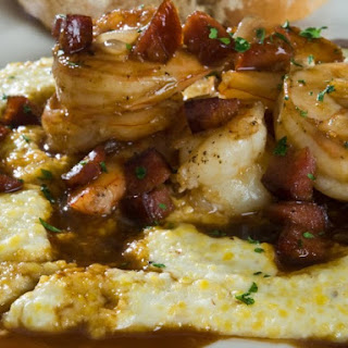 Low Country Shrimp And Grits With Bacon Gravy.