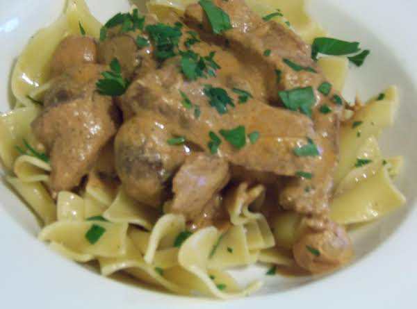 Beef Stroganoff With Egg Noodles Recipe