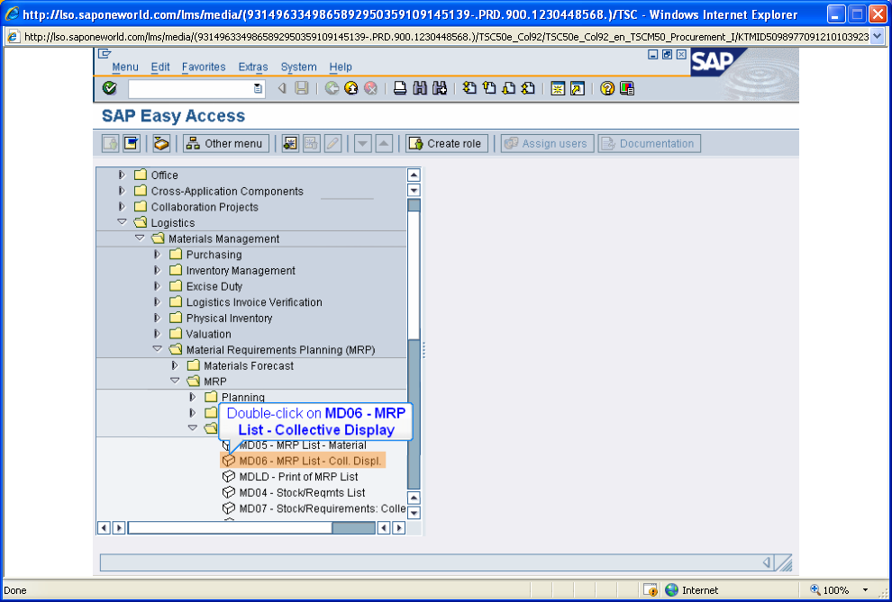 SAP Integrated Report