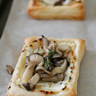 Herbed Goat Cheese and Mushroom Tarts