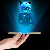 Cat Noir Hologram 3D joke