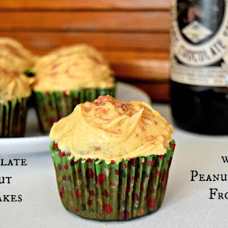 Chocolate Stout Cupcakes with Peanut Butter Frosting.