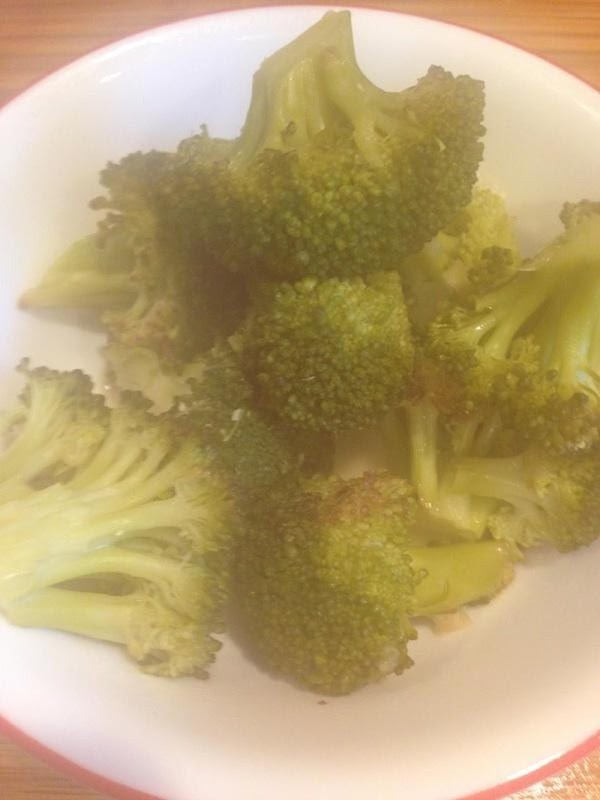Reserve some cooked broccoli to add after soup is blended.  (Trim off stem...