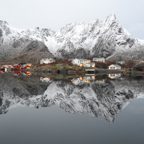 Ballstad i morgen stemmning by Karl-roger Johnsen - Landscapes Mountains & Hills