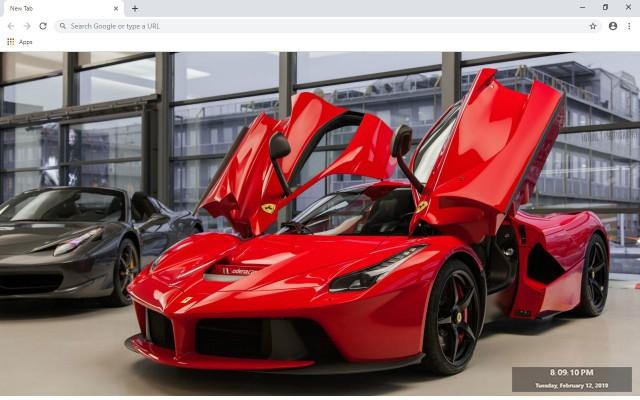 Ferrari LaFerrari New Tab Theme