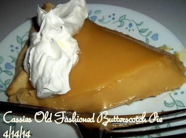 Cassies Old Fashioned Butterscotch Pie Recipe
