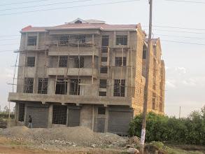 Photo: Nairobi outskirts - note the scaffolding