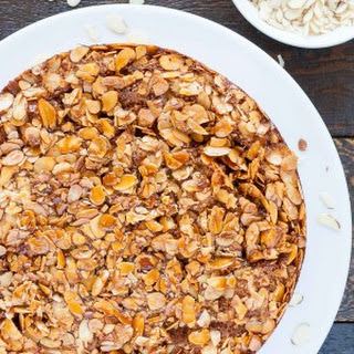 Caramel Almond Upside-Down Cake