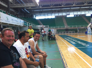 Photo: Algunos participantes esperando su turno: De izquierda a derecha, Justo Lechuga, Juande Pino y Juan Carlos Domínguez