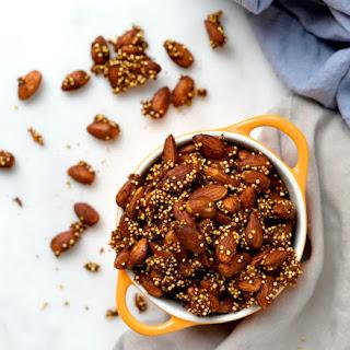 Pumpkin Pie Spiced Quinoa Crunch Almonds
