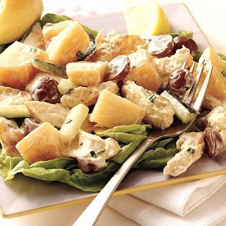 Cantaloupe and Chicken Salad.