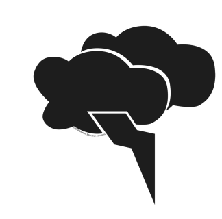 A cloud icon with a lightning bolt coming down out of it.