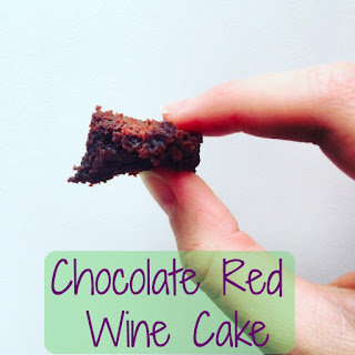 Chocolate Red Wine Cake.