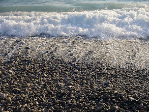 Photo: However, on the way out, they make a most unusual 'click-clacking' as the pebbles rattle against each other. With a particularly large wave, it rises to a 'whooshing'. For me, this will always be the unique and quintessential sound of the city.