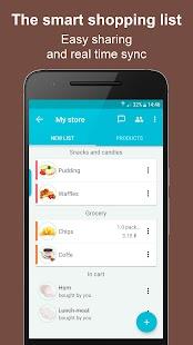 ListOk - Smart shopping list - náhled
