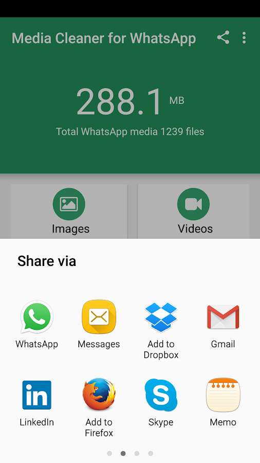 Media Cleaner for WhatsApp- screenshot