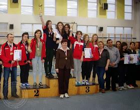 Photo: Podlaska Gimnazjada Strzelecka - w konkurencji pistolet pneumatyczny 30 drużyna dziewcząt zajęła I miejsce
