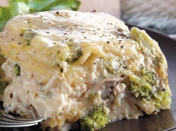 Slow-cooker Chicken Broccoli Lasagna Recipe