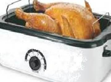 Grandma's Holiday Turkey Cooked in Roaster