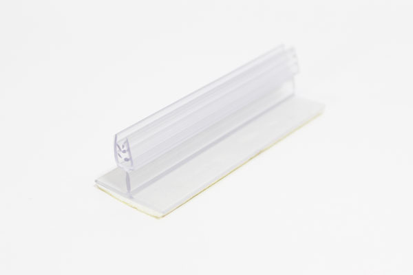 pinza plástica abatible sujeta gráficas de 7,5 x 2 cm con adhesivo espumoso