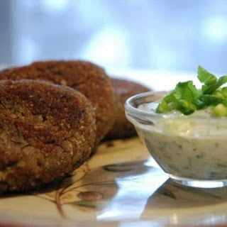 Meatless Buckwheat Patties With Mushrooms.