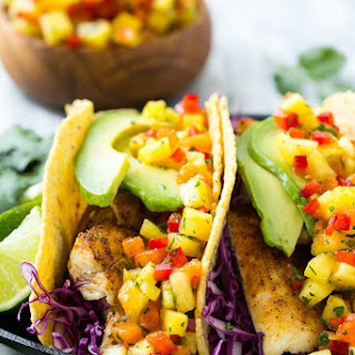 Tilapia Fish Tacos with Tropical Salsa