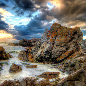 Stormy Sunset by Elmer van Zyl - Landscapes Sunsets & Sunrises ( hdr process,  )