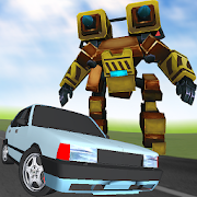 Robot Racer : Transformer Battle on Highway
