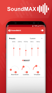SoundMAX - Equalizer & Music Booster Screenshot