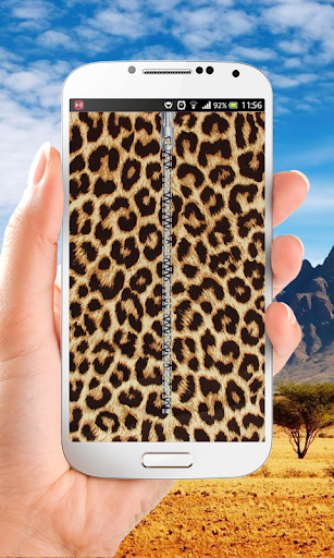 Leopard Print Zipper Lock
