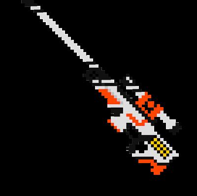 Печально известная снайперская винтовка AWP — очень опасное и очень эффективное оружие, которое легко узнается по характерному звуку выстрела и жестокому правилу: «один выстрел, один труп». Раскрашено вручную в стиле научной фантастики.