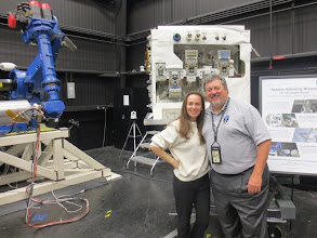 Photo: Me & Ed with ROSIE... and off to the left there is the Dextre mockup! AKA the Special Purpose Dexterous Manipulator (SPDM)