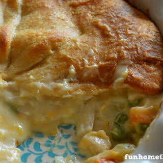 Dump Chicken Pot Pie (with Crescent Roll Crust).