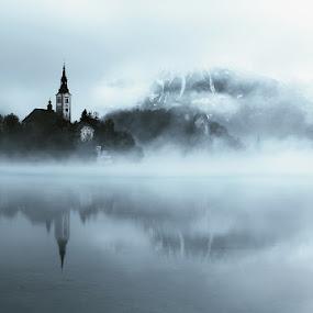 Once upon a time by Uroš Florjančič - Landscapes Waterscapes ( slovenia, bled, lake, watter, island )
