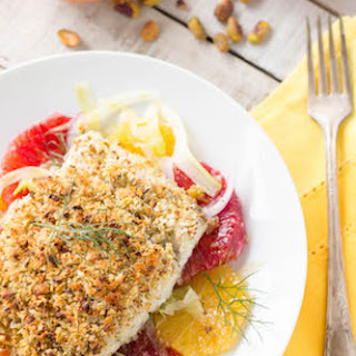 Pistachio Crusted Barramundi with Orange Fennel Salad