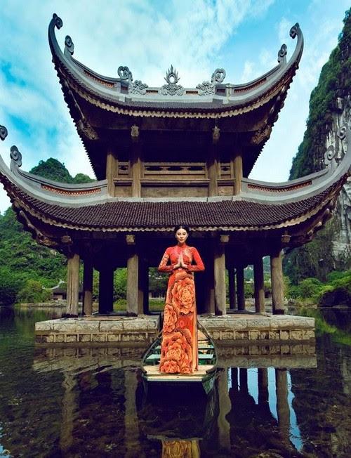 Khu du lịch Tràng An, mê hoặc áo dài Ngọc Khuê Các 5