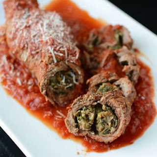 Braciole – Rolled Stuffed Steak in Tomato Sauce