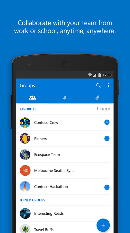 Outlook Groups- screenshot