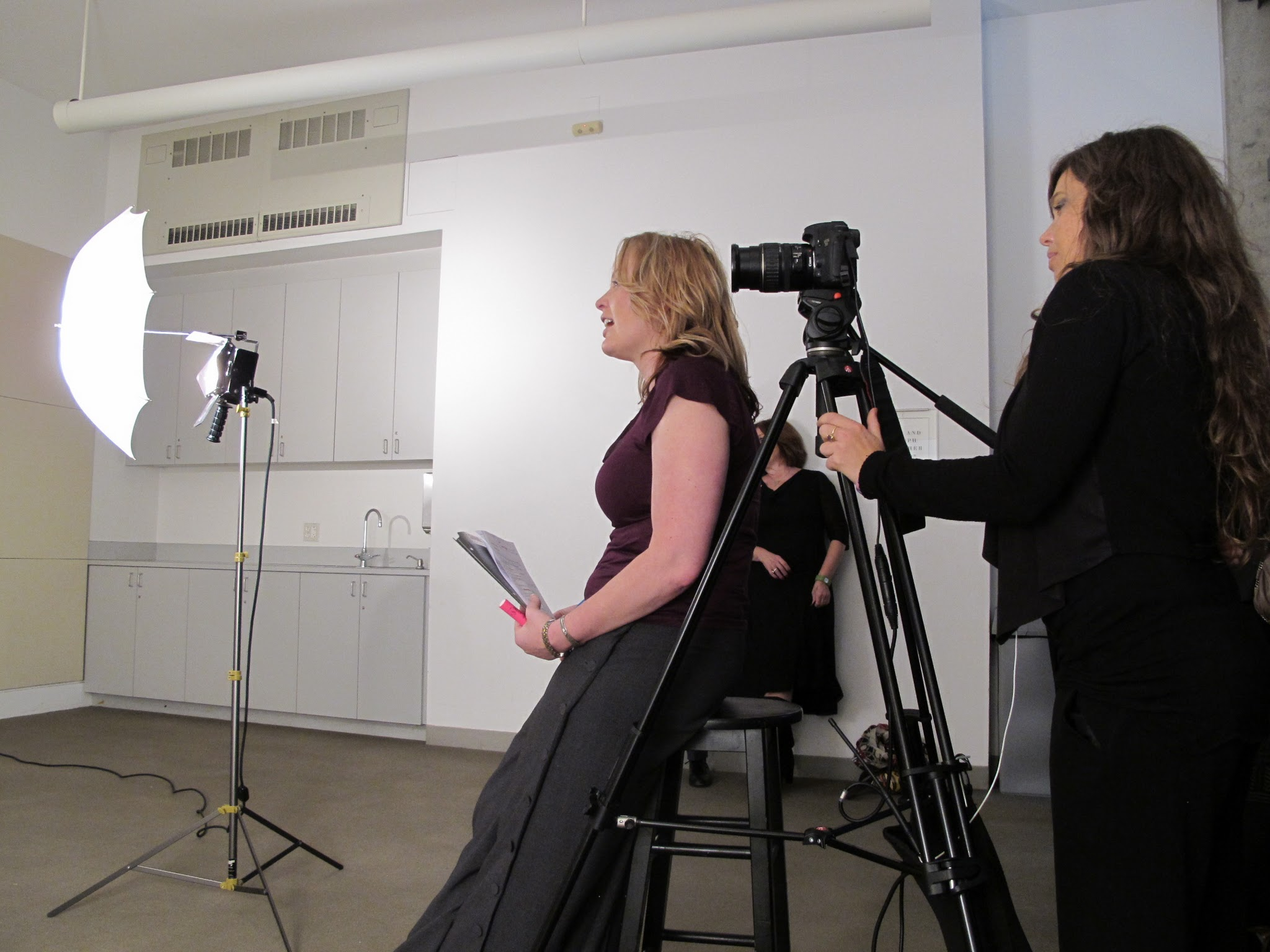 Photo: Our talented DP Ashley T. Hughes doing work. And of course, a My Story production is Tasha Oldham.