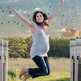 High Jumper by Sue Matsunaga - People Maternity