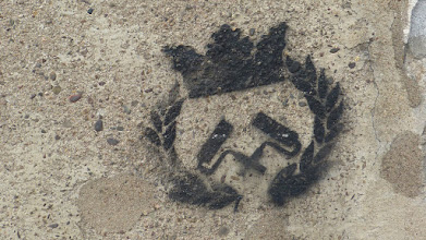 Photo: Stencil; Straßengold